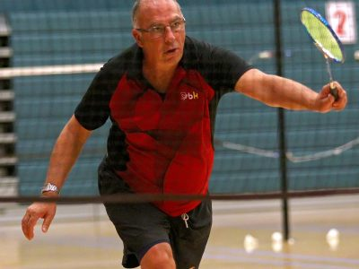 Rick Frost, Huntsman Senior Games, Badminton, St. George, Utah, Oct. 12, 2015, | Photo by Robert Hoppie, ASPpix.com, St. George News